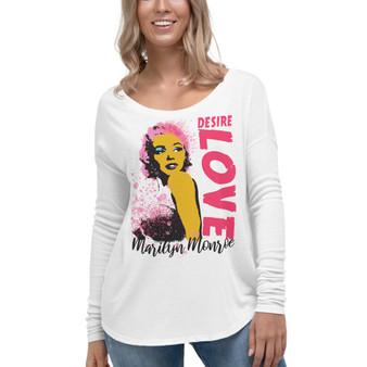 Marilyn Monroe Desire Love Ladies' Long Sleeve Tee by Neoclassical pop art