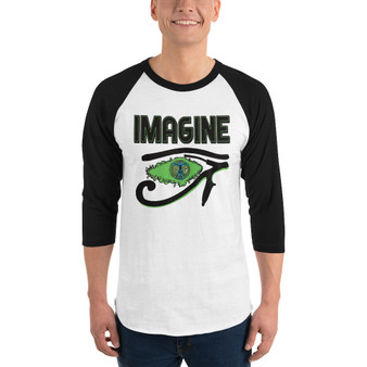 Da Vinci | Imagine 3/4 sleeve raglan shirt