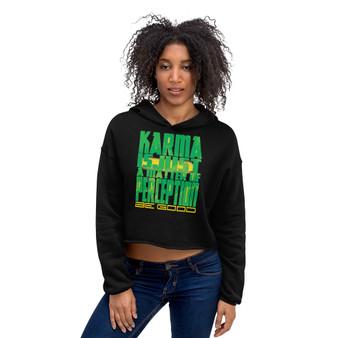 on sale sexy light green Spiritual Karma Crop Hoodie Neoclassical Pop Art