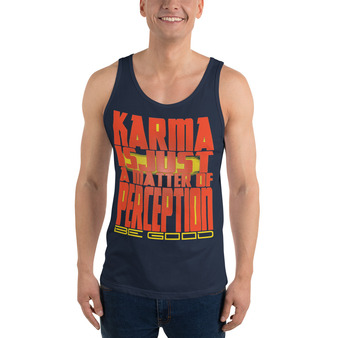 buy online the best Spiritual orange yellow  Karma Unisex Tank Top by neoclassical pop art