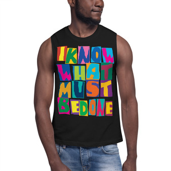"""On sale Spiritual """"I Know What Must Be Done """" Muscle Shirt by Neoclassical pop art online store"""