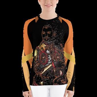 On sale Bronzino Duke Women's Rash Guard long sleeves tshirt by Neoclassical Pop Art
