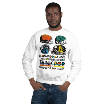 On Sale  Leonardo Da Vinci  Pop Skull Unisex Sweatshirt by Neoclassical Pop Art