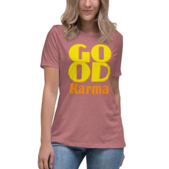 On sale Spiritual Good Karma Women's Relaxed T-Shirt by neoclassical pop art online fashion brand