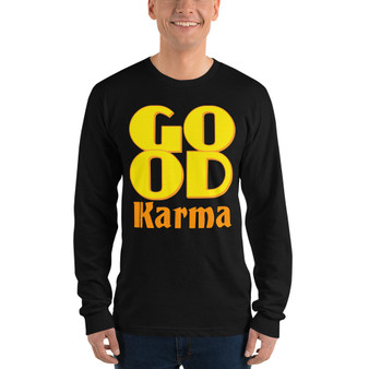 On sale Spiritual Good Karma Long sleeve t-shirt by neoclassical pop art online fashion designer brand
