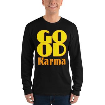 On sale Spiritual Good Karma Long sleeve t-shirt by neoclassical pop art online fashion designer brand