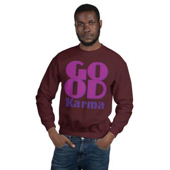 On sale Spiritual Good Karma Unisex Sweatshirt by Neoclassical pop art