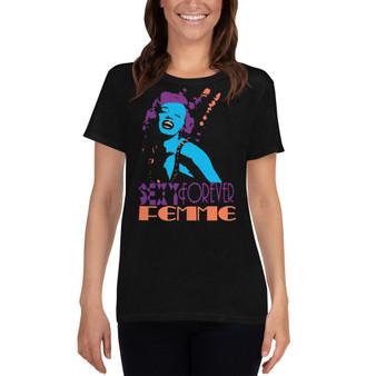 On sale blue purple peach Marilyn Monroe Femme Women's cool short sleeve t-shirt by neoclassical pop art