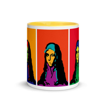 yellow, orange, red, purple, blue, green, peach, El Greco Neoclassical pop art  coffee mug by Neoclassical Pop Art