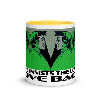 buy online near me Sandro Botticelli Dante Portrait Green Mug by Neoclassical Pop Art