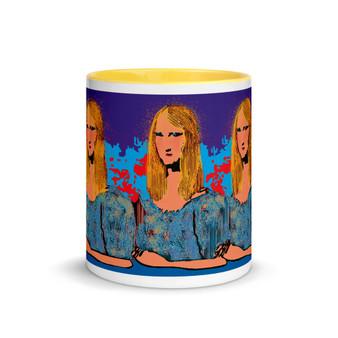 Mona Lisa neoclassical pop art portrait mug by Neoclassical Pop Art
