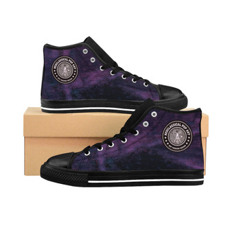 buy Da Vinci Men's High-top Purple fashion designer Sneakers by Neoclassical Pop Art fashion designer online brand store