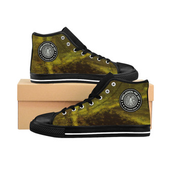Da Vinci Men's High-top Golden Olive designer Sneakers by Neoclassical Pop Art fashion designer online brand