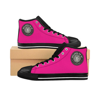 Buy online Da Vinci Pink Women's High-top fashion designer Sneakers at Neoclassical pop art brand store