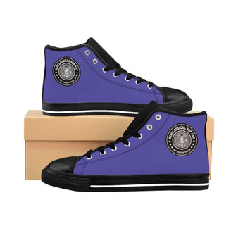 buy Da Vinci Men's High-top plain Purple fashion designer Sneakers by Neoclassical Pop Art fashion designer online brand store