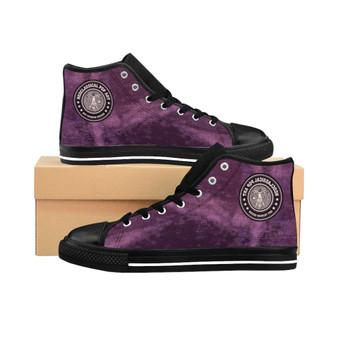 Buy Da Vinci Lilac Women's High-top Sneakers by Neoclassical Pop Art online designer brand store