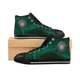 Buy  Da Vinci Green Women's High-top Sneakers by Neoclassical Pop Art online fashion brand