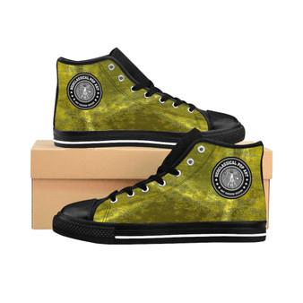 buy Da Vinci Men's High-top yellow fashion designer Sneakers by Neoclassical Pop Art fashion designer online brand store