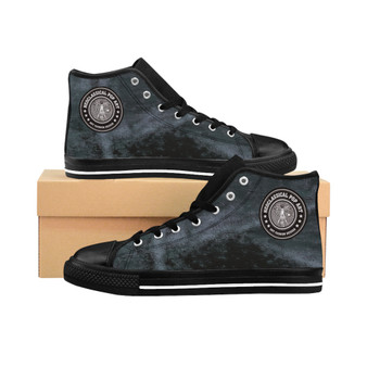 Buy Da Vinci Grey Women's High-top Sneakers by Neoclassical Pop Art fashion designer online brand store