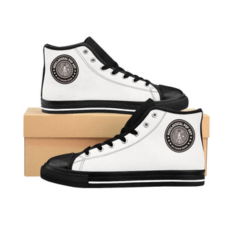 Buy Da Vinci White Women's High-top Sneakers by Neoclassical pop art fashion designer online brand