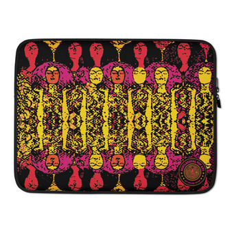 "on sale Colorful  yellow orange pink Gustav Klimt Beethoven Frieze""  designer Laptop Sleeve by Neoclassical Pop Art Online Brand online store"
