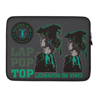 on sale cool Leonardo da Vinci Army green Alexander the Great designer Laptop Sleeve by Neoclassical Pop Art Online Brand online store