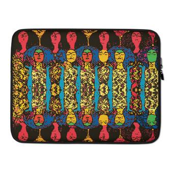 "on sale Gustav Klimt Beethoven Frieze"" Colorful yellow, blue , green orange best designer Laptop Sleeve by Neoclassical Pop Art Online Brand online store"
