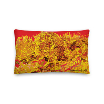 On sale Vincent Van Gogh Sunflowers Yellow and  red Decorative Accent Pillows by Neoclassical Pop Art  online art fashion and design brand