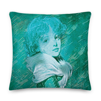 On sale Turquoise Old Masters pillow for sale online by Neoclassical Pop Art online designer art fashion and design brand