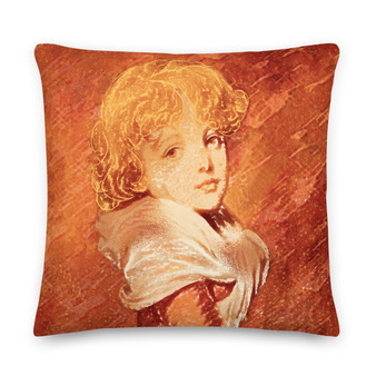 On sale orange Old Masters pillow for sale online by Neoclassical Pop Art online designer art fashion and design brand