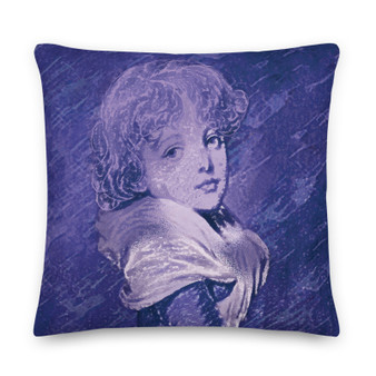 On sale purple Old Masters pillow for sale online by Neoclassical Pop Art online designer art fashion and design brand