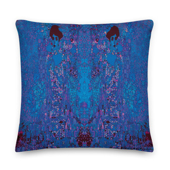 On sale Gustav Klimt navy blue decorative Premium throe pillow Pillow by Neoclassical Pop Art online art fashion design brand  store