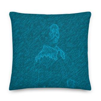On sale Velazquez Portrait blue Premium decorative throw pillow Pillow by Neoclassical Pop Art designer online art fashion and design brand store