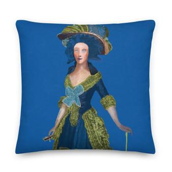 On sale Goya Blue Premium decorative throw pillow Pillow by Neoclassical Pop Art designer online art fashion and design brand store