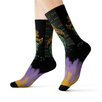 on sale Collectible Van Gogh Self portrait collectible  funky Sublimation art Socks by Neoclassical Pop Art online brand store