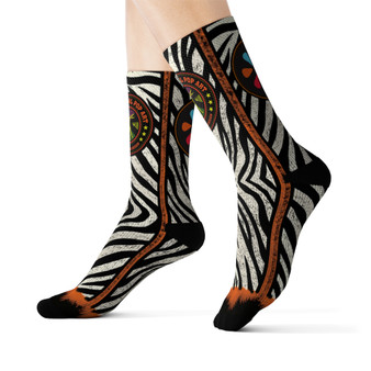 on sale Collectible Leonardo da Vinci Vitruvian Man white black orange cool art socks by Neoclassical Pop Art online brand store