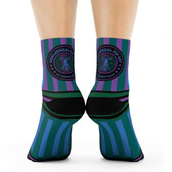 on sale Collectible Sandro Botticelli Brown blue purple  black artist art socks by Neoclassical Pop Art online brand store