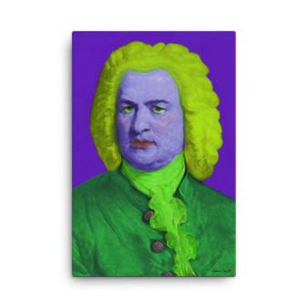 On Sale Johann Sebastian Bach |Baroque Pop Art Portrait in Purple Green Lime by Neoclassical Pop Art
