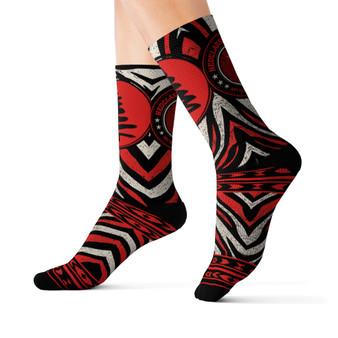On Sale Christmas Tree Red Zebra Executive Socks by Neoclassical Pop Art