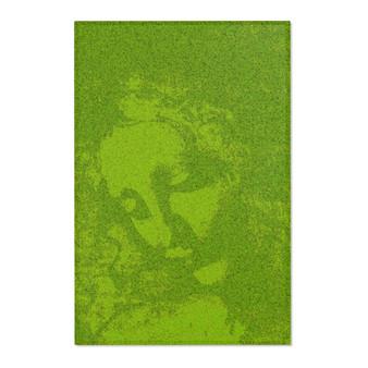 On Sale Da Vinci La Scapigliata Green Area Rugs by Neoclassical Pop Art
