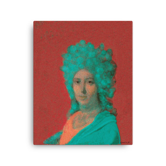 On Sale  Louis David   Orange Coral Print on Canvas by Neoclassical Pop Art