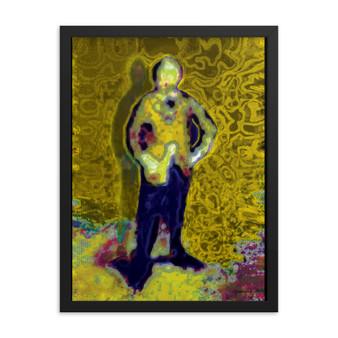 Manet   Yellow Blue Standing Framed poster