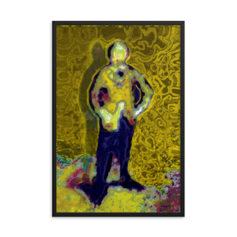 On Sale Eduard Manet Self Portrait Yellow Blue Framed poster by Neoclassical Pop Art
