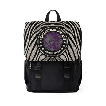 On Sale Da Vinci Portrait Unisex Casual Shoulder Backpack  by Neoclassical Pop Art