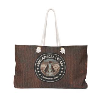 On Sale Da Vinci Vitruvian Man All Seeing Eye Weekender Bag by Neoclassical Pop Art