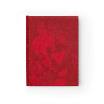 Da Vinci Study of a Woman's Head Red Journal - Ruled Line by Neoclassical Pop Art