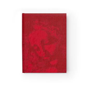 Da Vinci  La Scapigliata Portrait in Red Blank Journal by Neoclassical Pop Art