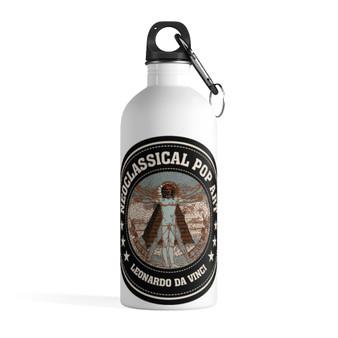On Sale Da Vinci Vitruvian Man Steel Water Bottle by Neoclassical Pop Art