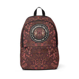 On sale Caravaggio Brown Medusa Unisex Fabric Backpack by Neoclassical Pop Art
