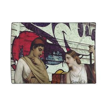 On Sale  The Greek Lovers Fleece Blanket  by Neoclassical Pop Art